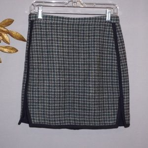 J.Crew Houndstooth Wool Skirt - Size 4